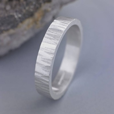 Roughed Up Ring - Handcrafted & Custom-Made