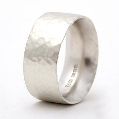 Chunky Hammered Ring - Handcrafted & Custom-Made