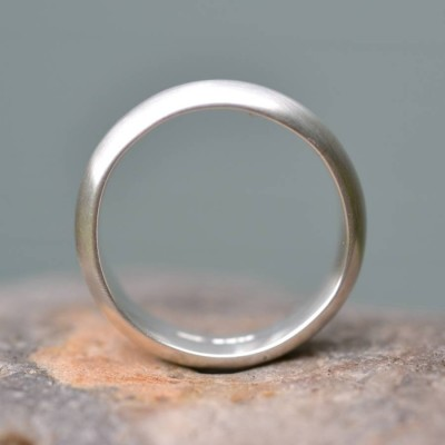Handmade Silver Satin Finish Wedding Ring - Handcrafted & Custom-Made