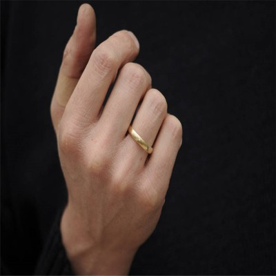 Mans Gold Wedding Band - Handcrafted & Custom-Made