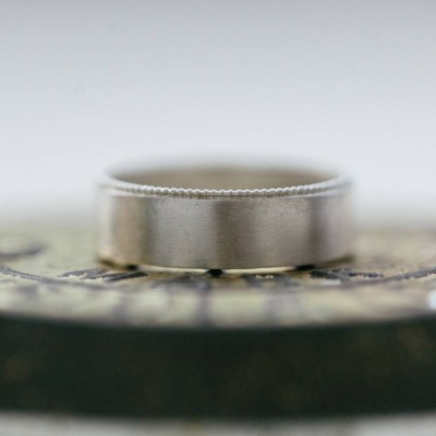 Mens Decorated Wedding Ring In 18ct Gold - Handcrafted & Custom-Made