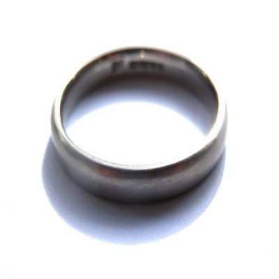 Mens 18ct White Gold Wedding Ring - Handcrafted & Custom-Made