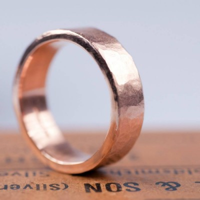 Organic Wide 18ct Gold Ring - Handcrafted & Custom-Made