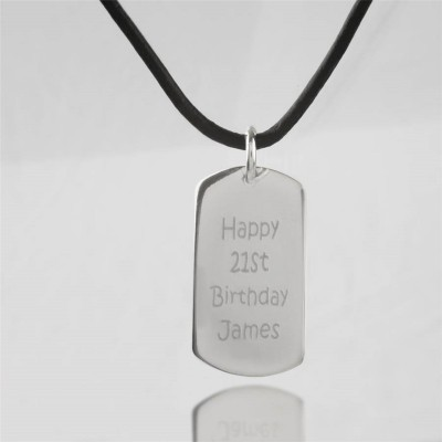 Personalised Message Dog Tag Necklace - Handcrafted & Custom-Made