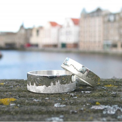 Personalised City Skyline Ring - Handcrafted & Custom-Made