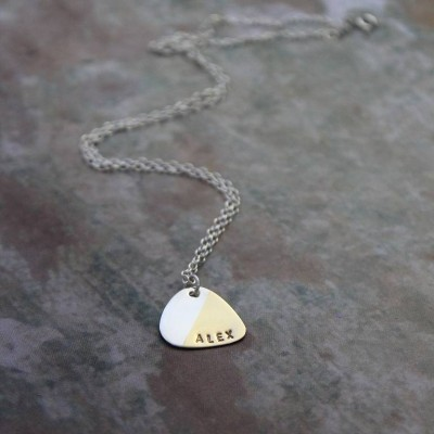 Personalised Plectrum Necklace - Handcrafted & Custom-Made