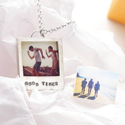 Personalised Silver Polaroid Necklace - Handcrafted & Custom-Made