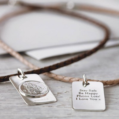 St Christopher Necklace - Handcrafted & Custom-Made