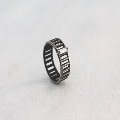 Sterling Silver Inclusions Ring - Handcrafted & Custom-Made